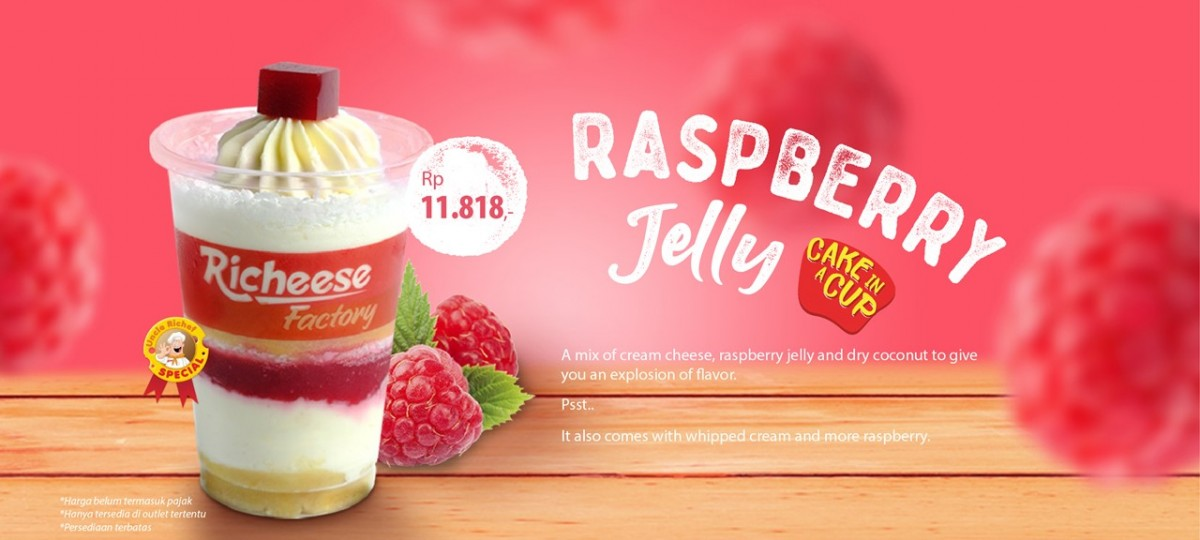 Raspberry Jelly Cake In A Cup